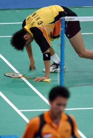 雅典奥运会羽毛球男单比赛北京