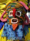 """图文-厄瓜多尔球迷热情如火""""可怕""""的酋长造型"""