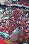 图文-新浪现场直击世界杯开幕式球迷提前做好准备