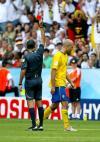 图文-[1/8决赛]德国VS瑞典卢西奇得到红牌