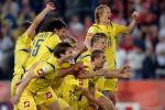 图文-[世界杯]乌克兰淘汰瑞士胜利瞬间一起冲啊