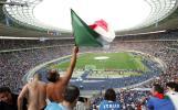 图文-意大利球迷现场助威柏林奥林匹克球场全景