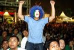 图文-印尼球迷心系世界杯决赛狂热的印尼球迷