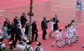 图文-2006年德国世界杯开幕式英格兰队步入会场