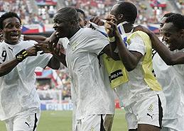 加纳为非洲取得首场胜利