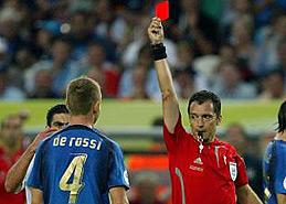 德罗西被红牌罚下