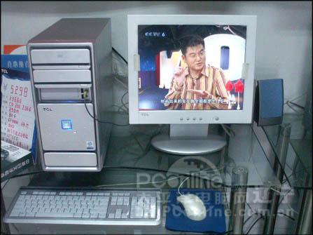 纯平换了液晶能看电视的台式机锐翔K3660