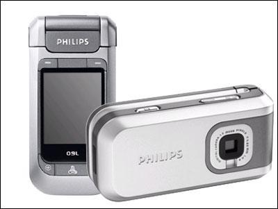 180度旋屏飞利浦首款百万像素手机760上市
