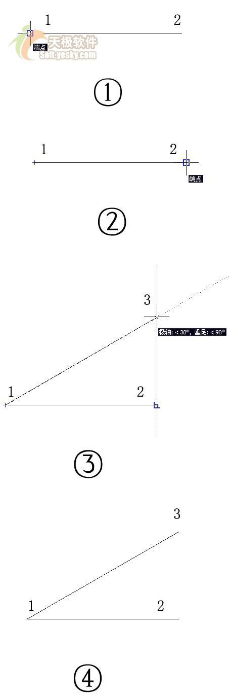 当然在r14版本里要实现绘制13线段就比较复杂了要先画一条水平线