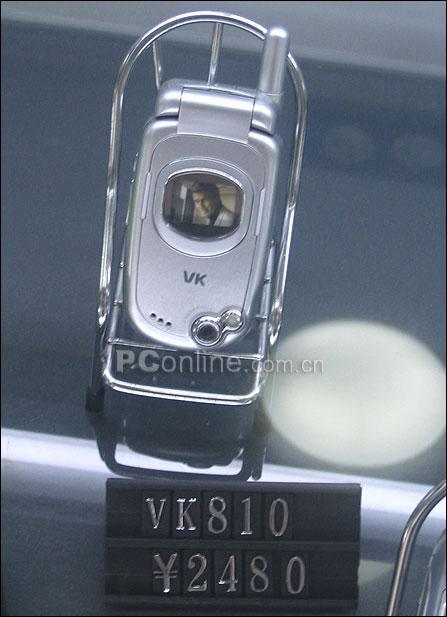 不到2500元唯开百万像素MP3手机VK810上市