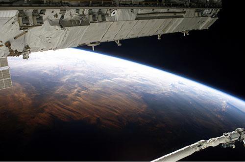 从国际空间站拍摄的地球照片(图)