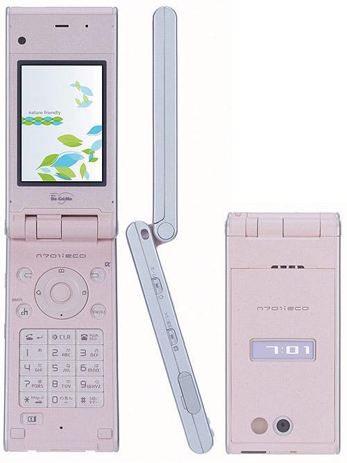NEC全球首款植物原料手机N701iECO图赏