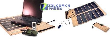 军方专用用太阳能搞定笔记本充电问题