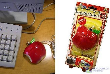 见了就想咬一口日本推出苹果造型鼠标(图)