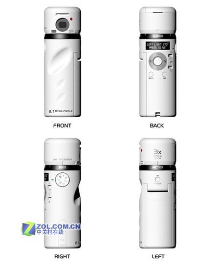 创造性设计支持360度全景拍摄的相机