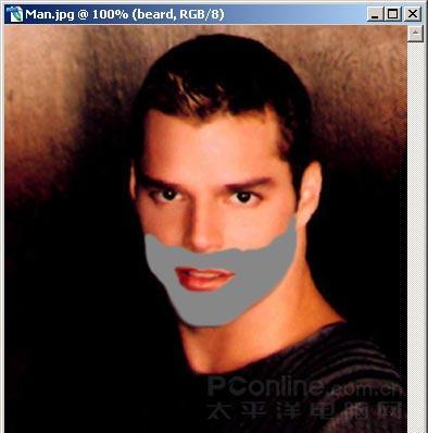 更具男人味用Photoshop给面部添加胡须