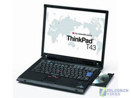 IBM行货T43指纹识别笔记本售价16400元