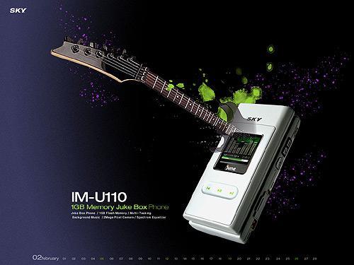 1GB海量闪存泛泰纯白音乐天使IM-U110图赏