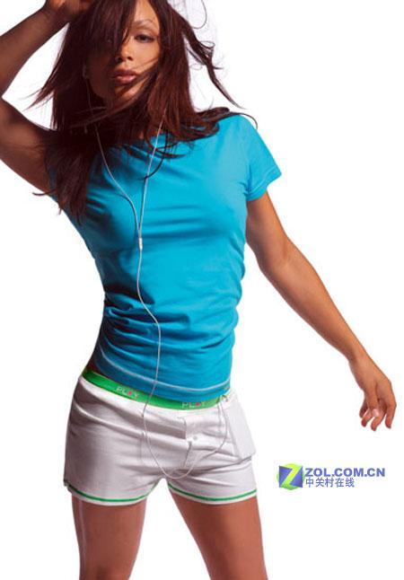 最另类配件苹果iPod多彩情侣短裤亮相