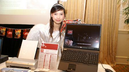 惠普三款双核本露面香港少女真机演示