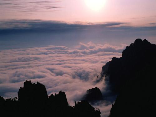 色彩变化万千学习用数码相机拍摄雾景