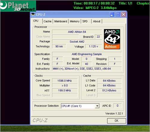CeBIT2006展上Turion64X2实测性能曝光