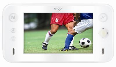 苹果风格aigo新款MP4播放器配置不俗