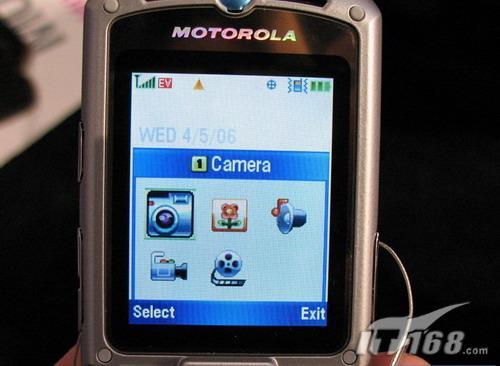 锐丽风采MOTO超薄音乐手机V3m激情上市