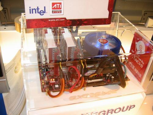 ATI展示集成X700级显卡的Intel芯片组!