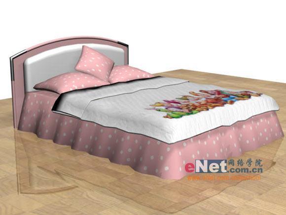 家居设计diy 用3dmax制作粉红色公主床(7)图片