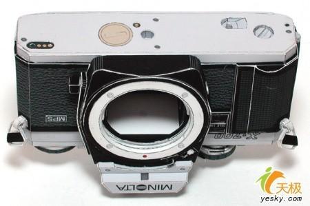 几可乱真日本最强手工纸制相机面世(2)