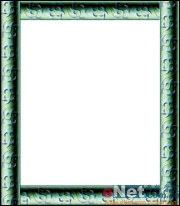 photoshop精彩实例 设计金属质感的画框(4)