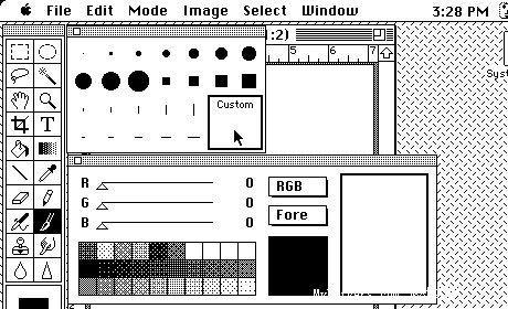 珍图收藏1987年的第一版Photoshop