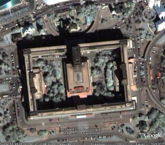 用卫星图软件查看俄罗斯首都莫斯科