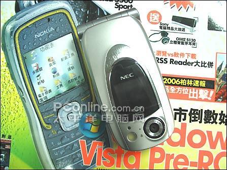 翻盖靓屏NEC拍照手机N830只要899元