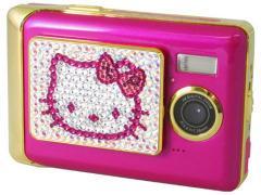可爱最无敌Hellokitty粉饼盒相机亮相