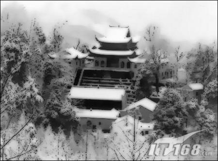 冬韵无限美Photoshop妙手绘制雪景水墨画(2)
