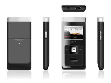 很有科技感Airis新款MP3可更换锂电池