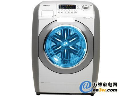 三星 wm1245a滚筒式洗衣机内筒采用卧筒式,将衣物放进内筒进行上下