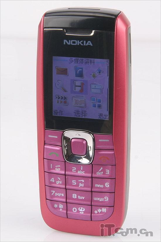 高雅粉色情缘诺基亚直板手机2626评测(10)
