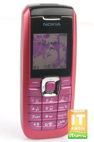 高雅粉色情缘诺基亚直板手机2626评测