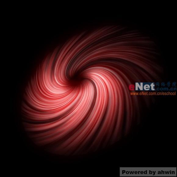 创意教程:Photoshop打造红色星云漩涡