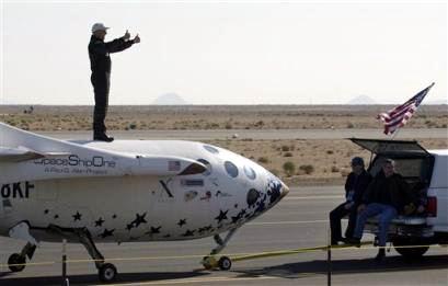 科技时代_全球第一艘民间载人飞船成功完成太空旅行(图)