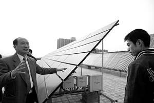科技时代_中国首座太阳能楼试运行 每天发电400度(图)
