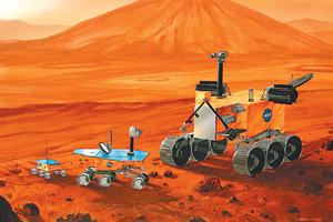 科技时代_第三代火星车用核能供电 能爬60度斜坡(图)