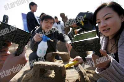 科技时代_京博园户外活动中心推出模拟考古(图)