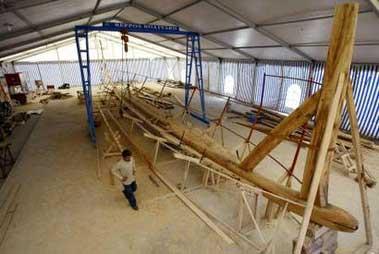 科技时代_希腊重建传说中寻找金羊毛的阿尔戈号古船