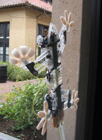 科技时代_美国开发出壁虎式机器人 可吸附在墙上行走