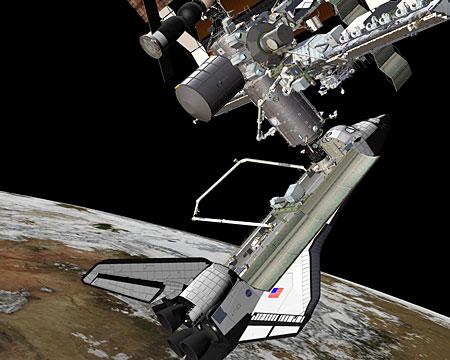 科技时代_发现号与国际空间站成功对接 宇航员太空汇合