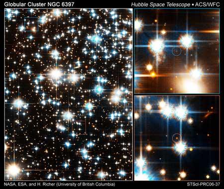 科技时代_哈勃观测到球状星团中最暗恒星群(图)